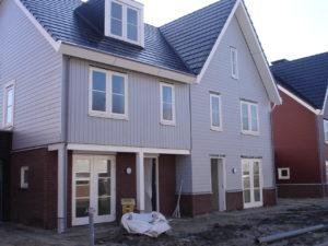 fasade grått nybygg