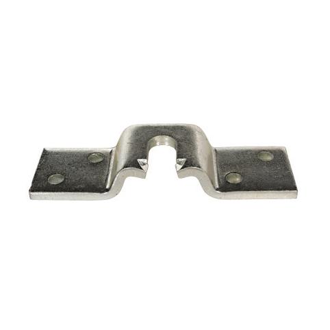 Metallbeslag - hevet på midten
